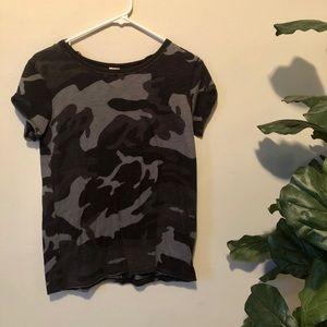 Free People Navy Camo T-Shirt